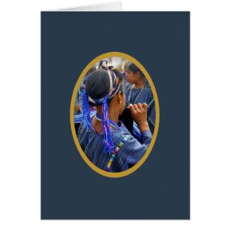Cartão Tecelões novos de Atitlan