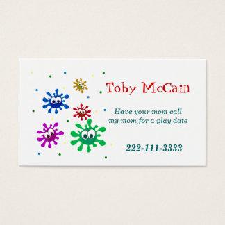 Cartão telefónico colorido das crianças cartão de visita