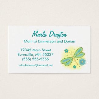 Cartão telefónico das mamães - borboleta e flores