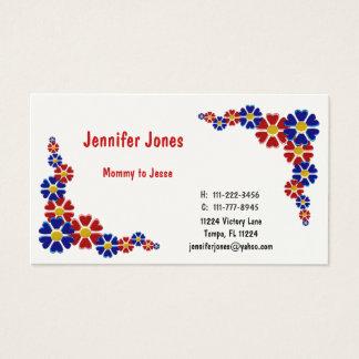 Cartão telefónico floral colorido