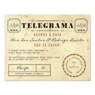 Cartão Telegrama do Vintage Agende a Data