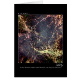 Cartão Telescópio de Hubble da nebulosa de caranguejo