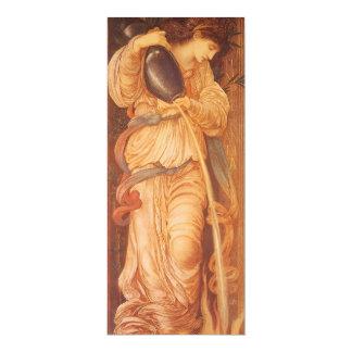 Cartão Temperantia por Burne Jones, arte do Victorian do