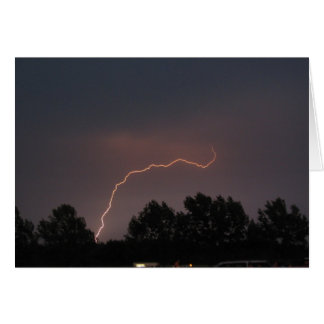 Cartão Tempestade do relâmpago
