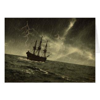 Cartão Tempestade no mar