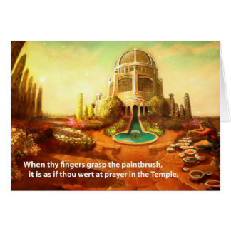 Cartão Templo da escova