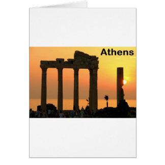 Cartão Templo da piscina de Atenas (Sounion) de Apollo