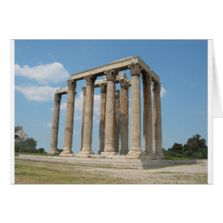 Cartão Templo do olímpico Zeus (Atenas)