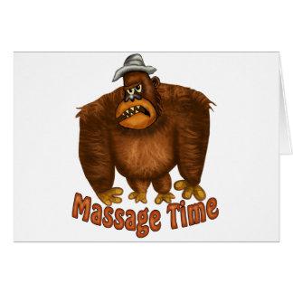 Cartão Tempo da massagem
