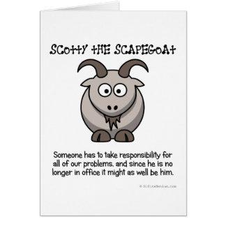 Cartão Tenha sempre um bode expiatório para tomar a culpa