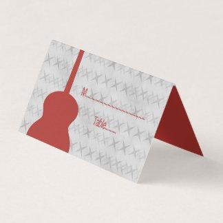Cartão Tented do lugar do Grunge vermelho da