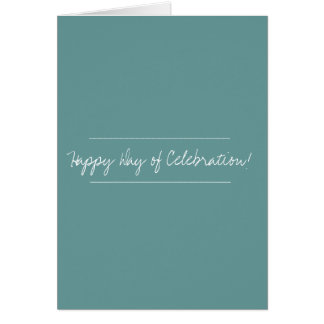 Cartão terminado para alguma celebração