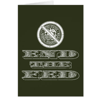 Cartão Termine o libertário de Fed Federal Reserve