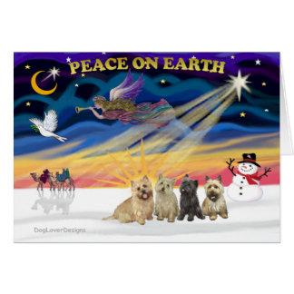 Cartão Terrier de monte de pedras XmasSunrise-4