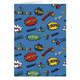 Cartão Teste padrão colorido do divertimento do