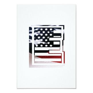 Cartão Teste padrão da bandeira dos EUA da inicial do
