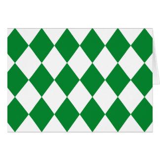 Cartão TESTE PADRÃO do DIAMANTE no ~ verde