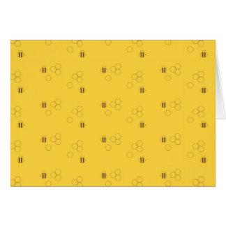 Cartão Teste padrão do favo de mel da abelha