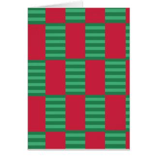 Cartão Teste padrão do verificador do Natal