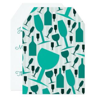 Cartão Teste padrão do vidro de vinho