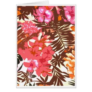Cartão Teste padrão havaiano abstrato
