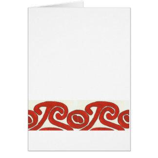 Cartão Teste padrão vermelho & branco do nativo americano