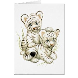 Cartão Tigre bonito Cubs da neve