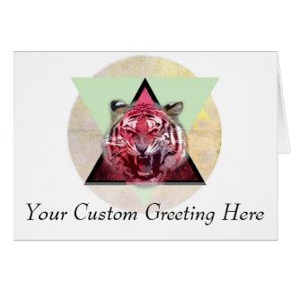 Cartão Tigre da rosnadura