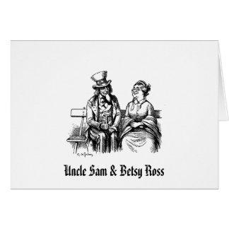 Cartão Tio Sam & Betsy Ross
