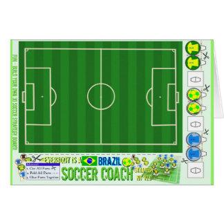Cartão Todos é um jogo da estratégia do treinador do