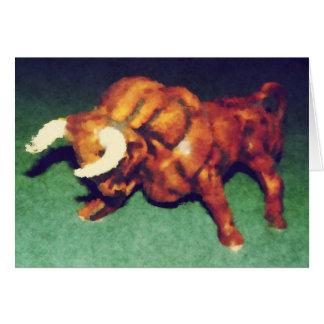 Cartão Tome a Bull pelos chifres