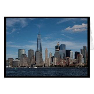 Cartão Torre da liberdade, NY, NY