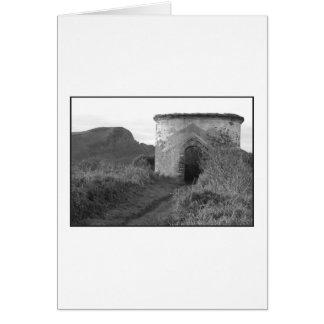 Cartão Torre da vigia do Burrow do sacristão. Inglaterra
