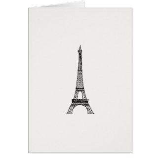 Cartão Torre de Customizable_Paris_Eiffel