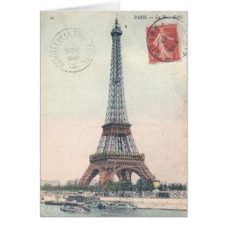 Cartão Torre Eiffel