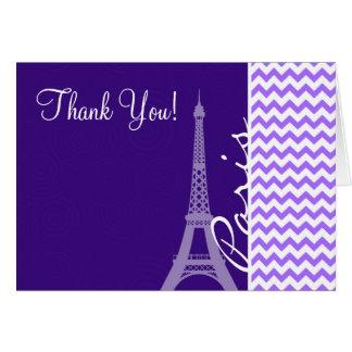 Cartão Torre Eiffel; Chevron roxo