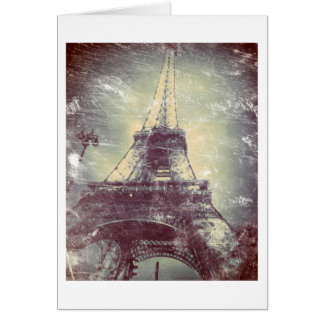 Cartão Torre Eiffel, Vintage-Denominada, vazio
