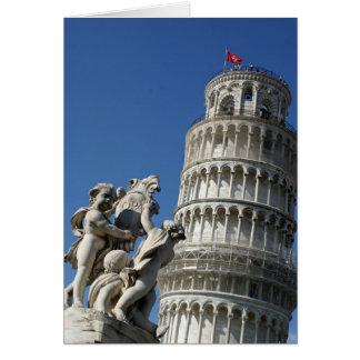 Cartão Torre inclinada de Pisa