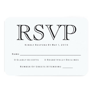 Cartão tradicional de Calson RSVP Convite 8.89 X 12.7cm