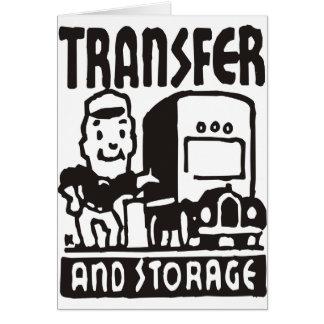 Cartão Transferência e armazenamento