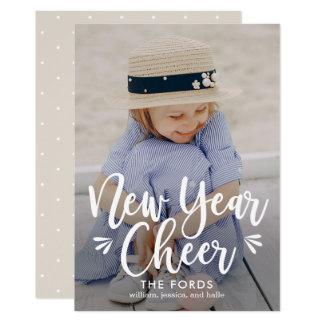 Cartão traseiro EDITÁVEL do ano novo da cor do