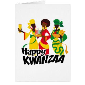 Cartão Trazendo o feriado Notecards de Kwanzaa da
