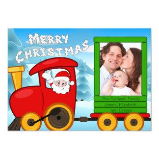 Cartão Trem do Natal do papai noel