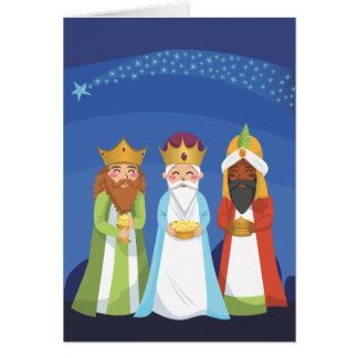 Cartão Três homens sábios