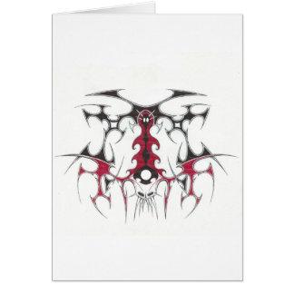 Cartão tribal do diabo