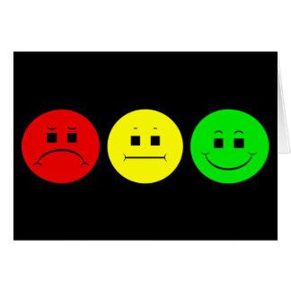Cartão Trio temperamental do sinal de trânsito