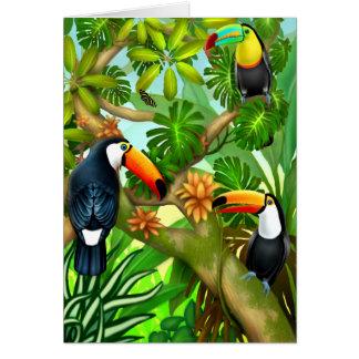 Cartão tropical da selva de Toucan