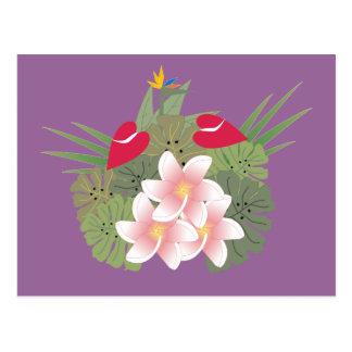 Cartão tropical das flores