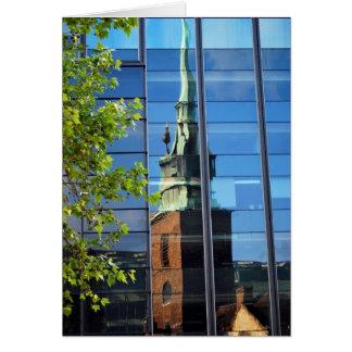 Cartão Tudo Hallows pela reflexão da torre