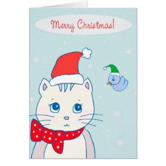 Cartão Twiggy do gato